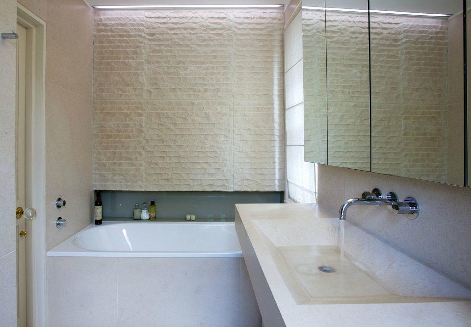 Limestone-bathroom polished clean color